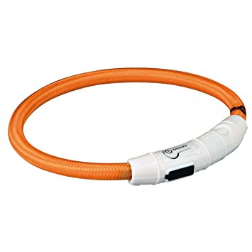 Világító Nyakörv USB Töltővel Narancs (L-XL)