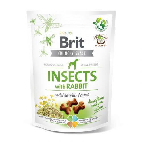 BRIT Care Crunchy Cracker Insects Nyúl és Édeskömény (200 g)