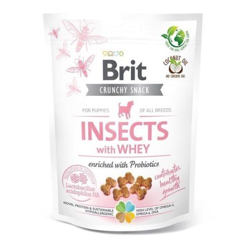 BRIT Care Crunchy Cracker Insects Savóval Kölyköknek (200 g)