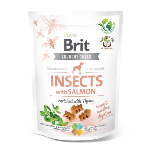 BRIT Care Crunchy Cracker Insects Lazac és Kakukkfű (200 g)