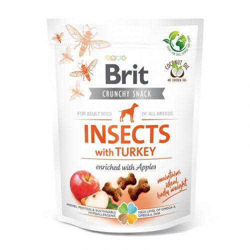 BRIT Care Crunchy Cracker Insects Pulyka és Alma (200 g)