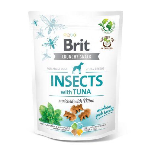 BRIT Care Crunchy Cracker Insects Tonhal és Menta (200 g)