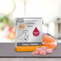 PLATINUM Menu Pulyka + Lazac felnőtt nedvestáp (375 g)