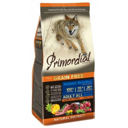 PRIMORDIAL Grain-Free Adult Tonhal - Bárány (12 kg)